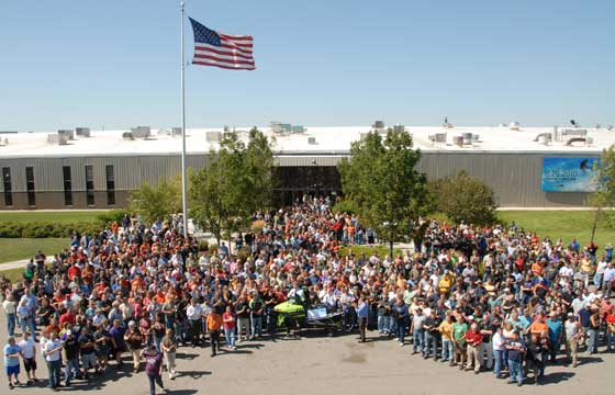 Arctic Cat's One Millionth Snowmobile Party, summer 2010