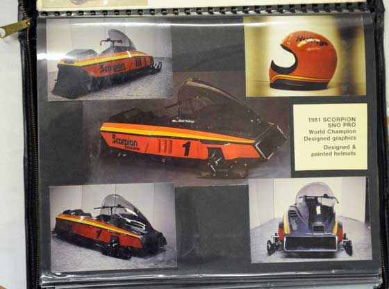 Original Arctic Cat art and styling models from Leon Raiter