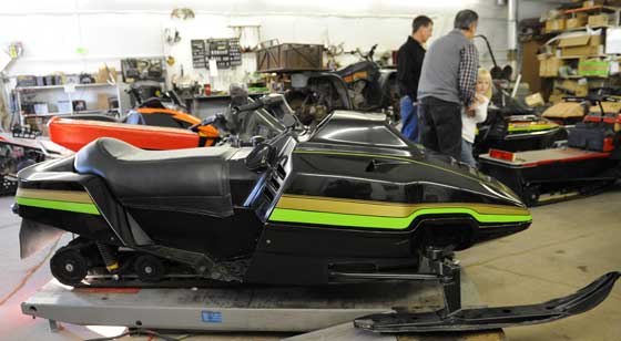 Prototype Arctic Cat snowmobile for 1983, owned by Tom Rowland