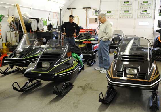 Tom Rowland's collection of prototype 1982 Arctic Cat snowmobiles