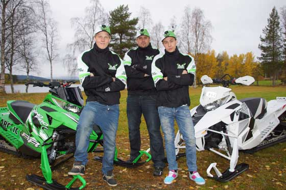 Arctic Cat's Team Yngvesson from Sweden