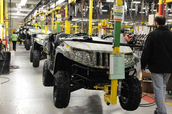 Arctic Cat Prowlers on the production line, photo: ArcticInsider.com