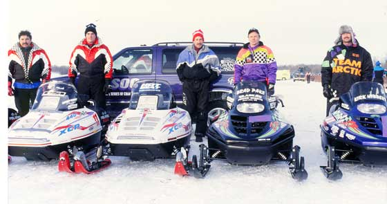 1994-95 Pine Lake top 5 including Team Arctic's Kirk Hibbert and Brad Pake