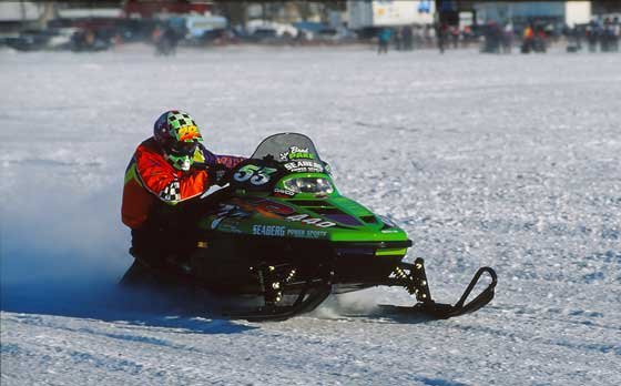 Team Arctic Cat ace Brad Pake won Pine Lake in 1995