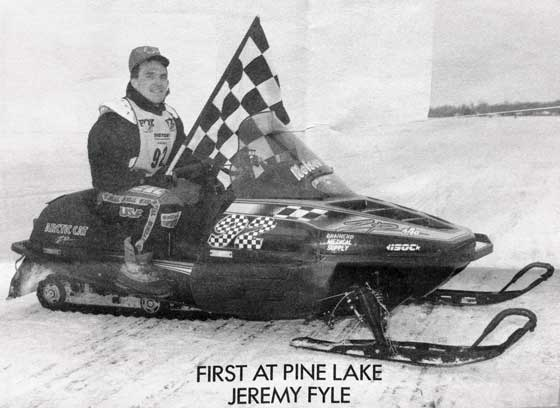 Team Arctic Cat's Jeremy Fyle won Pine Lake in 1992