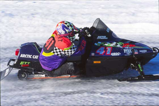 Team Arctic Cat legend Kirk Hibbert won Pine Lake in 1994