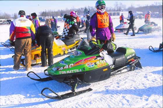Team Arctic Cat racer Tom Mattila