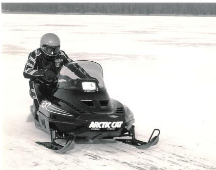 Team Arctic Cat's Brian Nelson on a 1990 EXT Special
