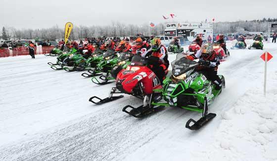Pro class start of Pine Lake cross-country final. Photo: ArcticInsider.com