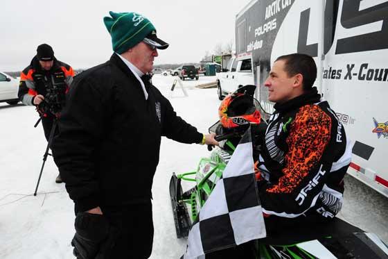 Arctic Cat's Roger Skime and racer Ryan Simons, photo: ArcticInsider.com