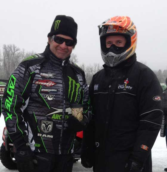 Arctic Cat legend Kirk Hibbert talks with Wes Selby, photo: ArcticInsider.com