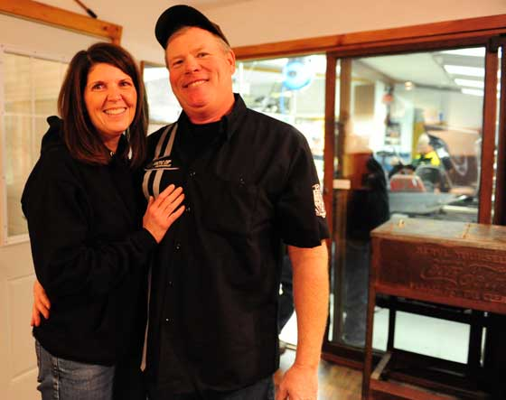 Linda & Rich Pederson, owners of the Zedshed