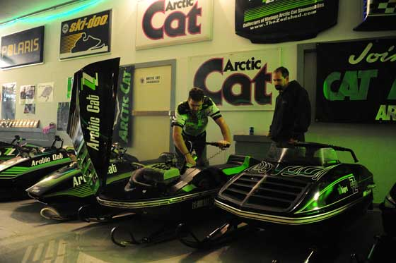 The Zedshed classic Arctic Cat vintage sled collection. Photo: ArcticInsider.com