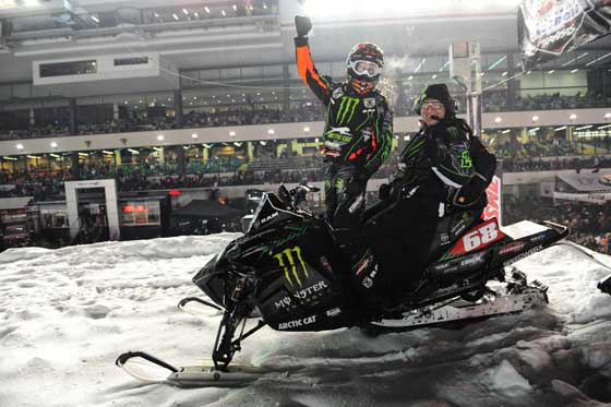 Team Monster/Arctic Cat winner Tucker Hibbert. Photo by arcticinsider.com