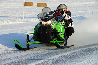Team Arctic Cat/Christian Bros. Racing Brian Dick wins DL. Photo: SledRacer.com