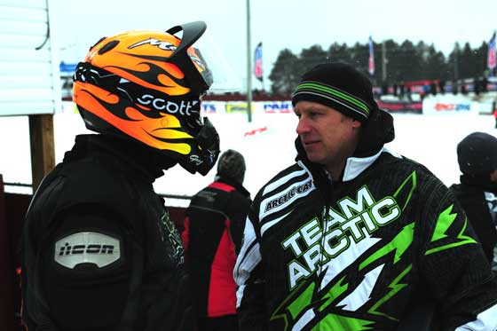 Team Arctic Cat's Gary Moyle and Mike Kloety