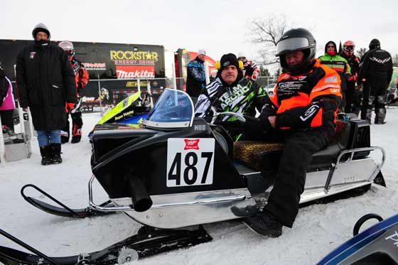 Roger Janssen and sled builder Tom Ische with the '69 Panther