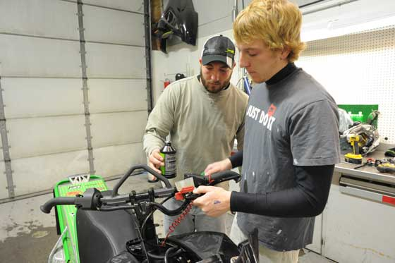 Arctic Cat Mountain test riders Robbie & Kellen