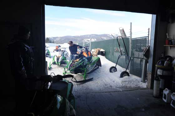 Arctic Cat's Mountain sled test facility