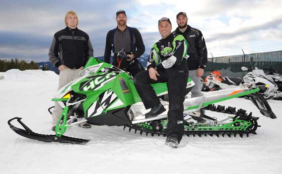 The Arctic Cat Mountain Test Team