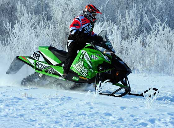 Team Arctic Cat's Jolene Bute won yet another I-500, photo: ArcticInsider.com