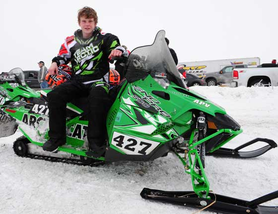 I-500 Junior winner, Team Arctic Cat's Mason Kallock