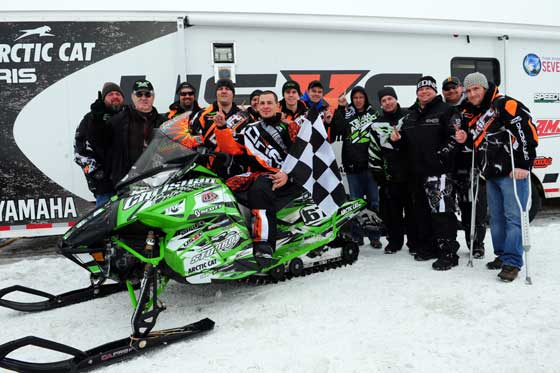 Christian Brothers Racing celebrates their I-500 win. Photo by ArcticInsider.com