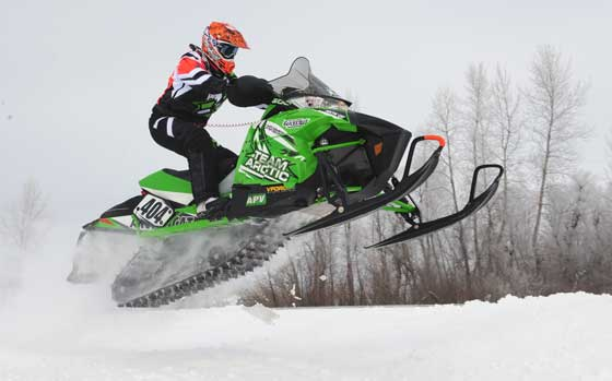 Team Arctic Cat's Cole Nymann won Semi Pro at the USXC I-500. Photo ArcticInsider.com