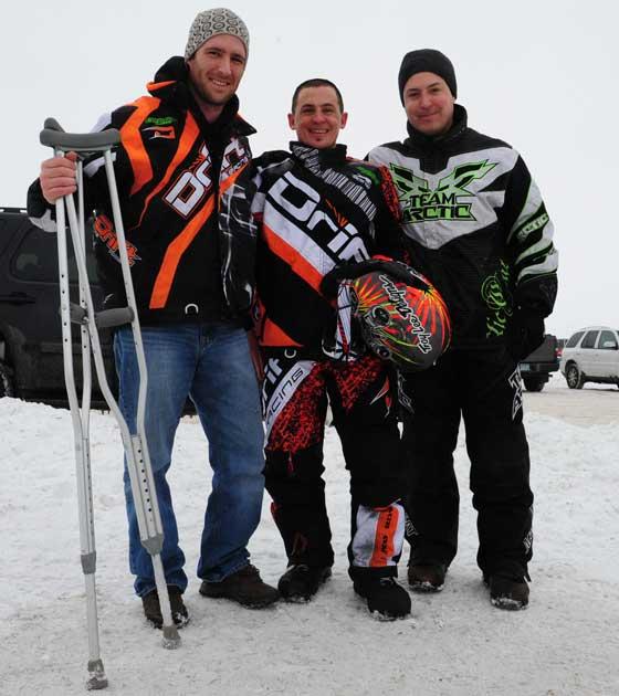 D.J. Ekre, Ryan Simons and Brian Dick. Photo: ArcticInsider.com