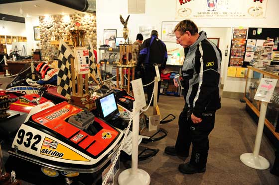 Jim Dimmerman at the Snowmobile Hall of Fame