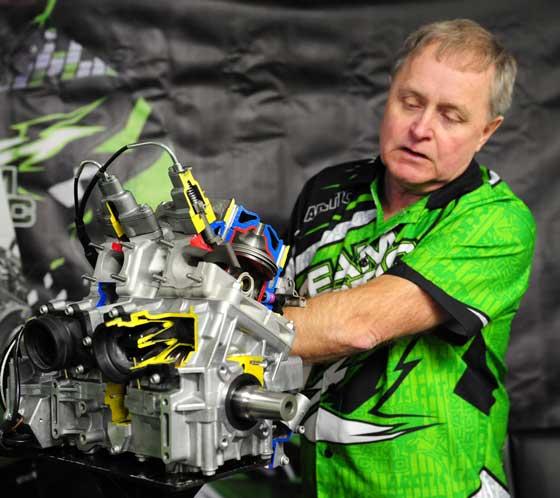 Donn Eide and the 600 C-TEC2 engine. Photo by ArcticInsider.com