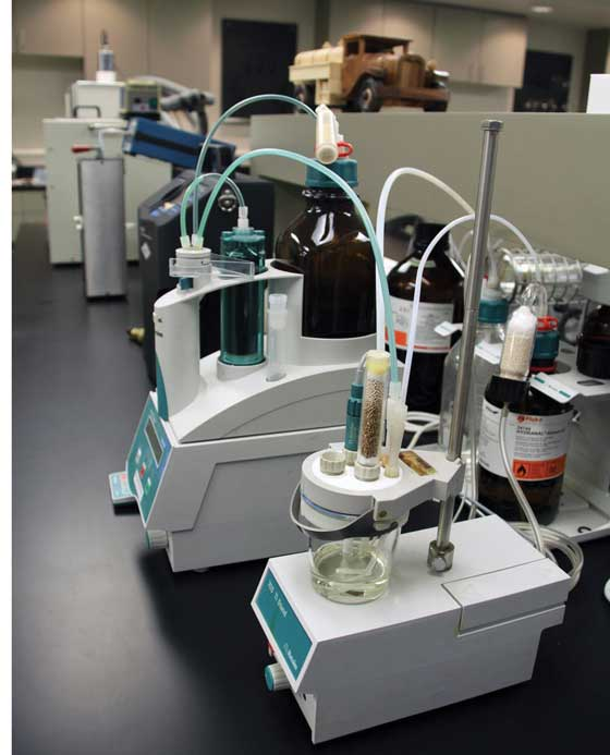 Oil formulations at the lab where Arctic Cat oil is developed