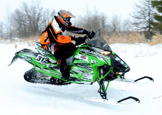 Team Arctic Cat & Christian Bros. XC pro Zach Herfindahl, photo: ArcticInsider.com