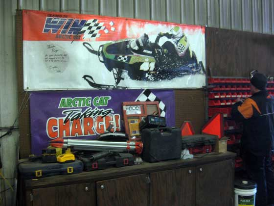 Inside Roger Skime's old shop at his ranch
