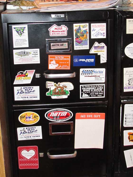 Dave Wells file cabinet