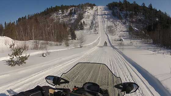 Ross Spoonland riding his Arctic Cat CrossTour in Ontario