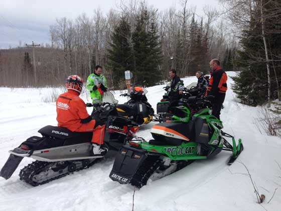 April 22 2013 snowmobile ride on the Minnesota North Shore