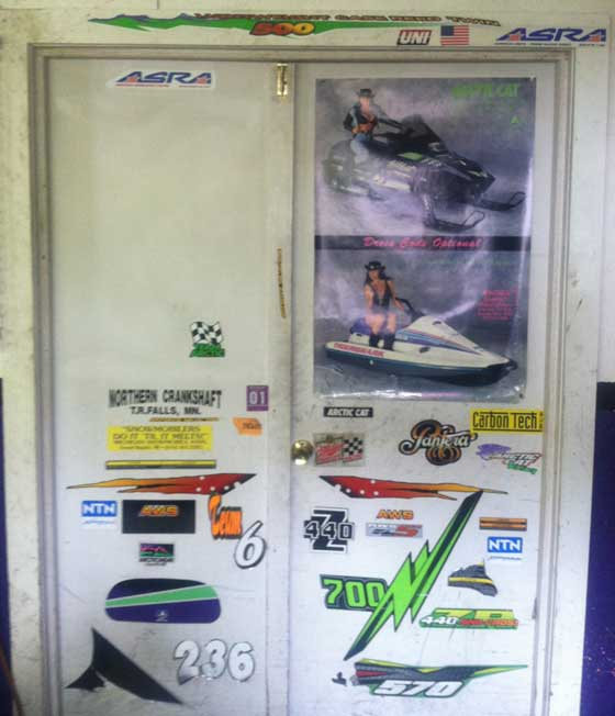 Jeff & Jeremiah Johnson Arctic Cat decal display