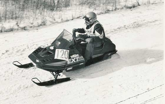Kirk Hibbert winning the 1990 Jeep 500 aboard the Arctic Cat EXT Special