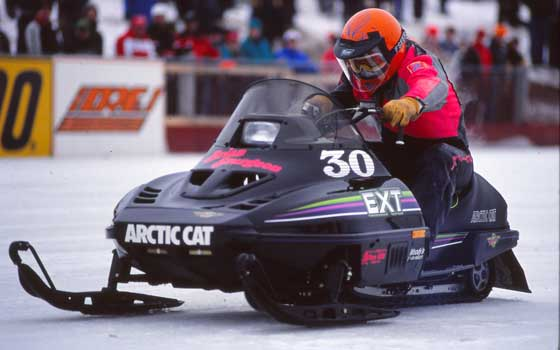Brian Sturgeon won Eagle River on the 1990 Arctic Cat EXT Special