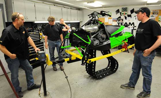 Arctic Cat pilot build room. Photo by ArcticInsider.com
