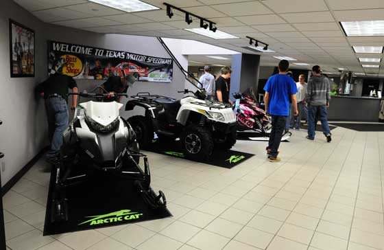 Arctic Cat lobby prior to plant tour. Photo by ArcticInsider.com
