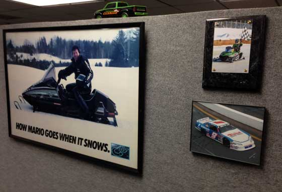 On the walls at Arctic Cat in TRF, photo by ArcticInsider.com