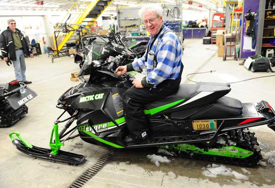 Roger Skime in Arctic Cat Engineering March 2013. Photo by ArcticInsider.com