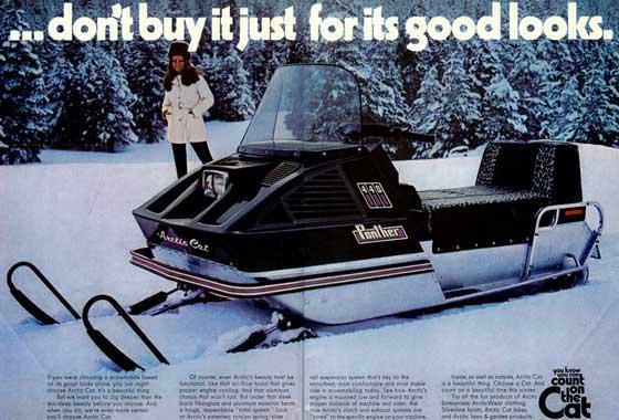 1972 Arctic Cat snowmobile ad