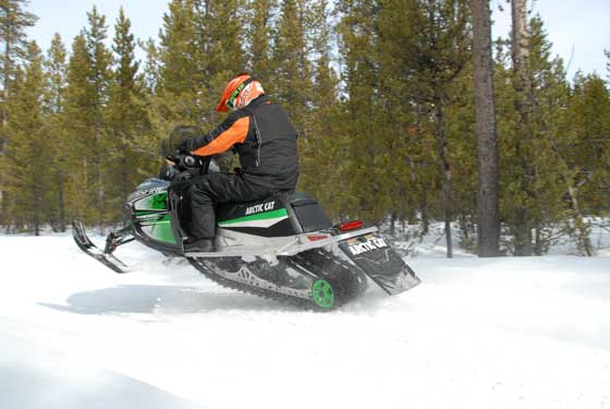 Rough trails aboard an Arctic Cat Crossfire. Photo by ArcticInsider.com