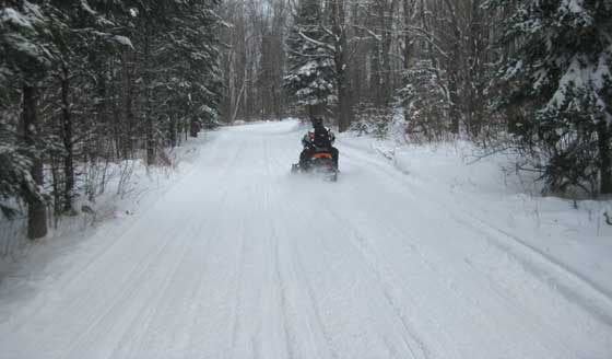 C.J. Ramstad North Shore Trail on an Arctic Cat. Photo by ArcticInsider.com