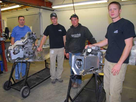 Arctic Cat engineers with prototype ProCross snowmobiles. Photo: ArcticInsider.com