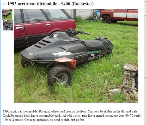 Arctic Cat craigslist-of-the-week 7-8-13