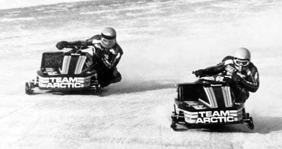 Team Arctic Factory Sno Pro racers Bob Elsner and Jim Dimmerman